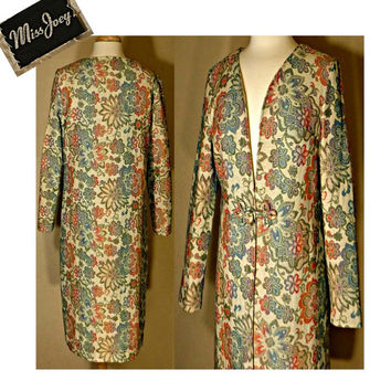 Women's Vintage Coat, Tapestry coat, Floral coat, Carpet coat, Brocade coat, Renaissance coat, Long coat, Oriental coat, Women's coat 12