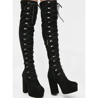 Up To Something Lace-Up Boots