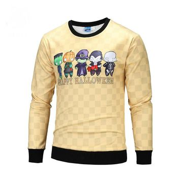 Autumn models 3D cartoon 3D custom large size sweater Europe and America clothing men sweater