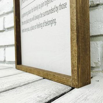Home Noun Farmhouse Home Decor Sign