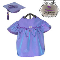 Dog Clothes Pattern To Sew Graduation Gown & Cap PDF All Sizes