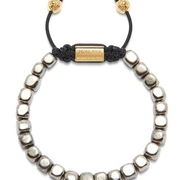 The Squared Bead Collection - Smooth Iron Pyrite