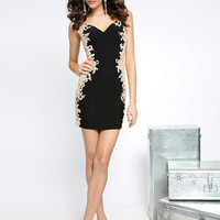 JVN by Jovani JVN20979 - Black Sheer Back Silk Prom Dresses Online