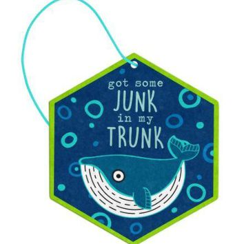 Got Some Junk in my Truck Whale Air Freshener (2 Pack) in Ocean by Wit