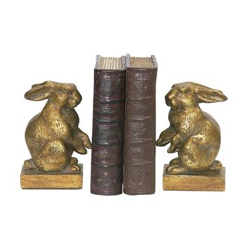 4-83037  Pair Of Baby Rabbit Bookends