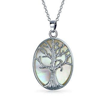 Family Tree Life Celtic Pendant Mother Oval Necklace Sterling Silver