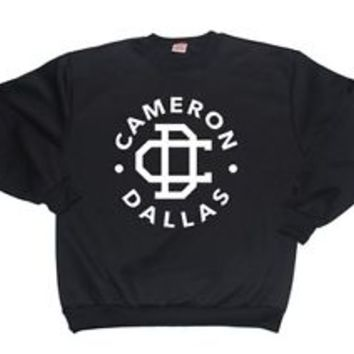 CAMERON DALLAS CREWNECK Nash Grier t shirt hoodie sweater jumper (BLACK)