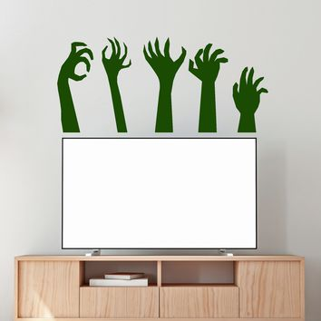 Vinyl Wall Decal Monster Hands Zombies Halloween Decor Stickers Unique Gift (2091ig)