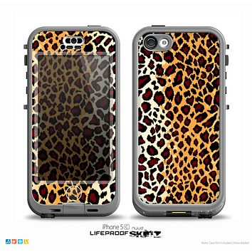 The Vector Brown Leopard Print Skin for the iPhone 5c nüüd LifeProof Case