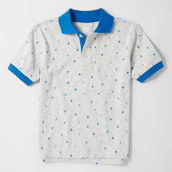 p.s. from Aéropostale Gray Sailboats Short-Sleeve Polo - Boys