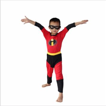 Deadpool Dead pool Taco Boy The Incredibles Robin  Ben Batman Spiderman The Flash Costume Halloween Costume For Kids Cosplay Clothing Set AT_70_6