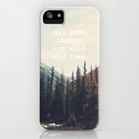 Wild and Free  iPhone & iPod Case by Laura Ruth