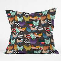 Sharon Turner Cincinnati Chickens Outdoor Throw Pillow