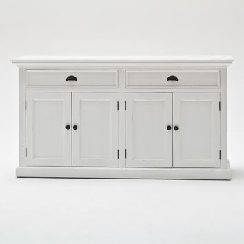 Halifax NovaSolo Classic Buffet White semi-glosspaint with a smooth top coat