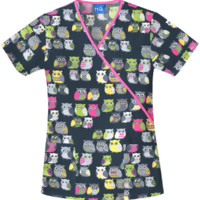 Owl Be There Owl Scrub Top - Cherokee 4826