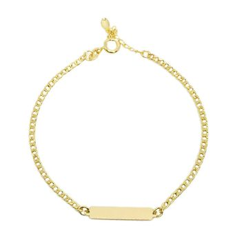 18k GL Simple Bar Bracelet