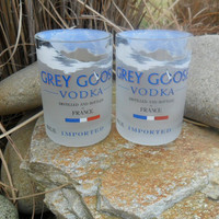 Grey Goose Rocks Glasses by BottleCrafters on Etsy