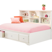 Full Size Brooke White Lounge Bed
