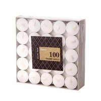 Pack of 100 White Unscented Tealight Candles