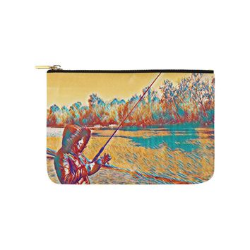 Levi Thang Fishing Design 4 Carry-All Pouch 9.5''x6''