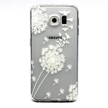 Ultra Thin Transparent Silicone Case for Samsung Galaxy S6 (Dandelion)