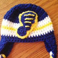 Newborn hat, St. Louis Blues Baby hat, crochet hat for baby boys, Newborn to 12 month sizes available