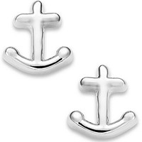 kate spade new york Silver-Tone Anchor Stud Earrings