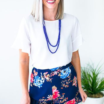 Make the Most of It Floral Ruffle Shorts