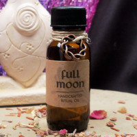 FULL MOON OIL - Goddess Moon Magic Ritual Oil - Attune to Lunar Energy