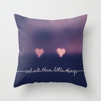 ONE DIRECTION SONG *** And all these little things *** Throw Pillow by SUNLIGHT STUDIOS | Society6