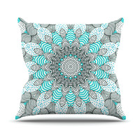 "Monika Strigel ""Dots and Stripes Mint"" Throw Pillow, 16"" x 16"" - Outlet Item"