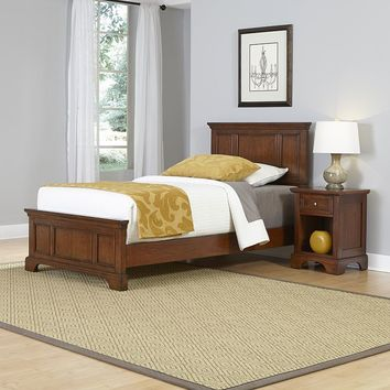 Home Styles 2-piece Chesapeake Twin Bed Frame and Nightstand Set (Cherry)