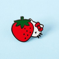 Hello Kitty Cheeky Strawberry Enamel Pin