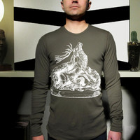 Men's L/S Thermal Shirt feat. Stag print
