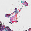 Mary Poppins 1 Watercolor Art