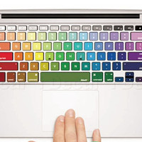 Rainbow Keyboard Skin Decal Sticker for Macbook by ClothLess