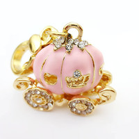 Charm Pink Fairy Tale Princess Pumpkin Carriage Juicy Couture Style  - In Gift Bag
