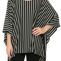 Lightweight Pull Over Knit Poncho Tunic Top