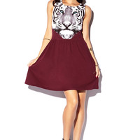 Tiger Graphic Skater Dress
