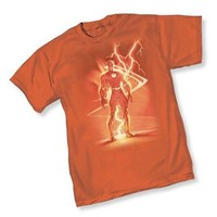 The Flash III Lightning By Michael Turner Adult Burnt Orange T-Shirt  - Shirts Sheldon Has Worn - | TV Store Online