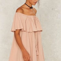 Nasty Gal Isla Off-the-Shoulder Dress
