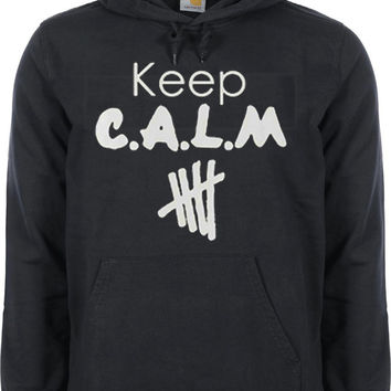 5SOS 5second Of Summer Keep C.A.L.M calum hood,Luke Hemmings,Ashton Irwin,Michael Clifford Hoodie For Womenon Size S-3XL heppy hoodies.