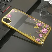 luxury soft case for apple iphone X for iphone 10 silicon silicone transparent X