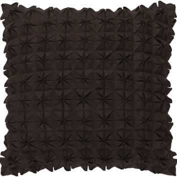 Surya Structure Throw Pillow Brown