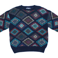Bay Breeze Hand Knitted Sweater L