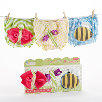 "Baby Aspen ""Buzzin' Bloomers"" Set of 3 Diaper Covers"