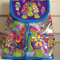 Lisa Frank Peekaboo Clear See Thru Vintage Small Backpack