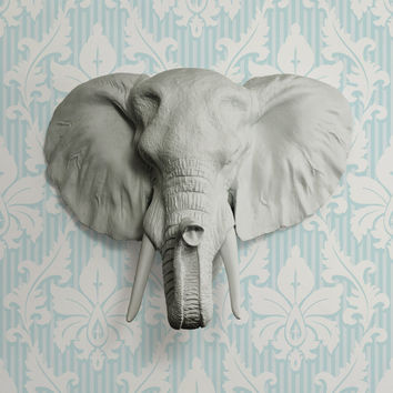 The Savannah Gray Faux Elephant head