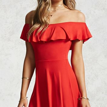 Off-the-Shoulder Jersey Dress