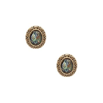 Faux Stone Etched Studs